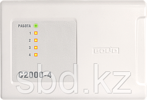 Блок приемно-контрольный охранно-пожарный С2000-4