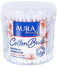 Ватные палочки Аура - AURA 200шт круглый стакан