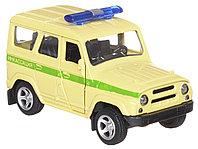 Технопарк УАЗ Hunter Инкассация металлическая инерционная модель