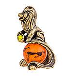 "Сувенир знак зодиака ""Лев"". Ручная работы, янтарь. Калининград, фото 2"