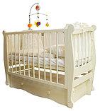 """Детская кроватка """"Алиса"""" Можгинский лесокомбинат(белая,слон.кость), фото 3"""