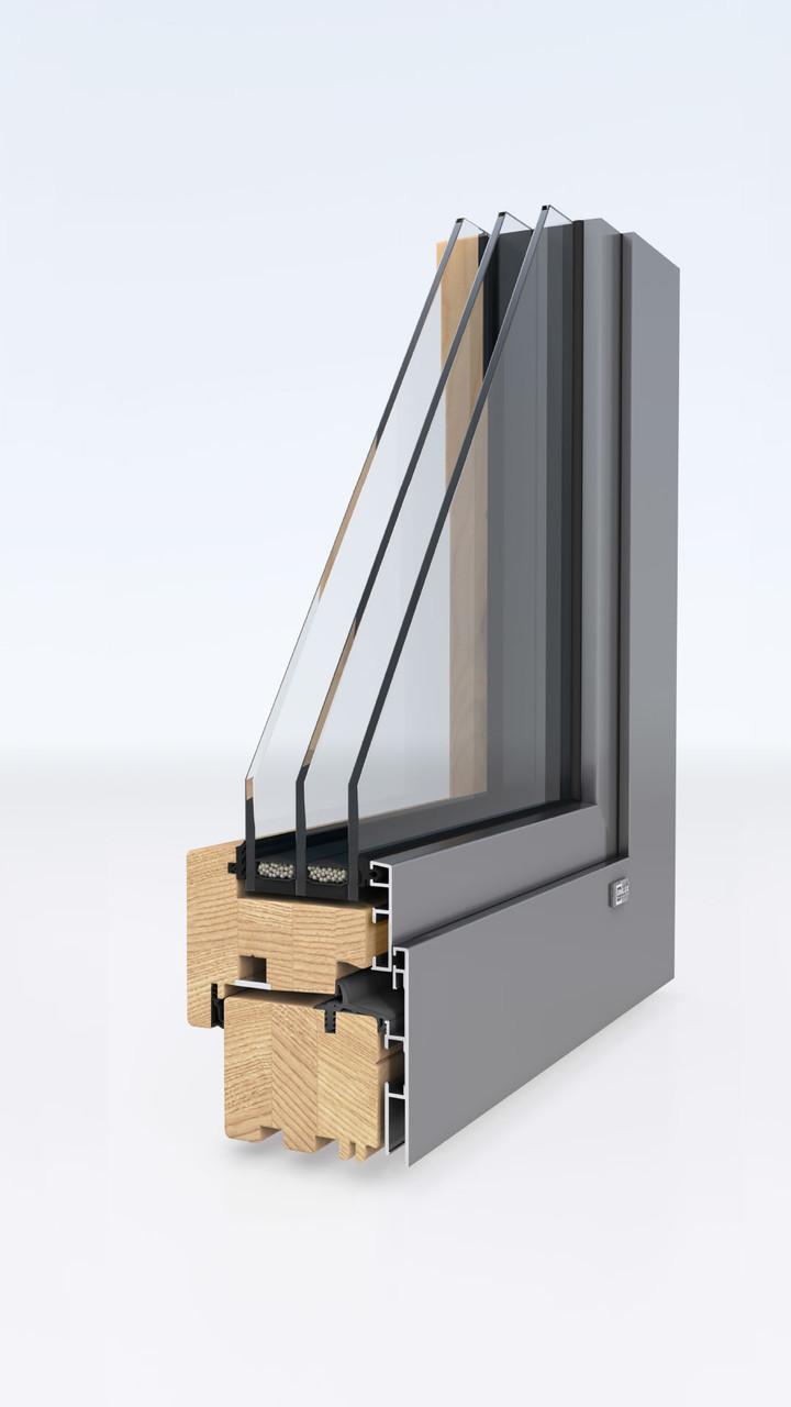 Деревянные окна-Unilux MODERNLINE 0.8