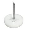 Подпятник для вбивания, D 13 мм x 5 мм., пластик, белый