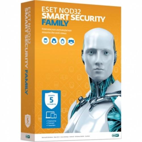 ESET NOD32 Smart Security Family-лицензия на 1 год на 5 устройств