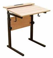Стол ученический одноместный, регулируемый по высоте (р.гр. №2-4) и наклону столешницы от 0 до 15 градусов