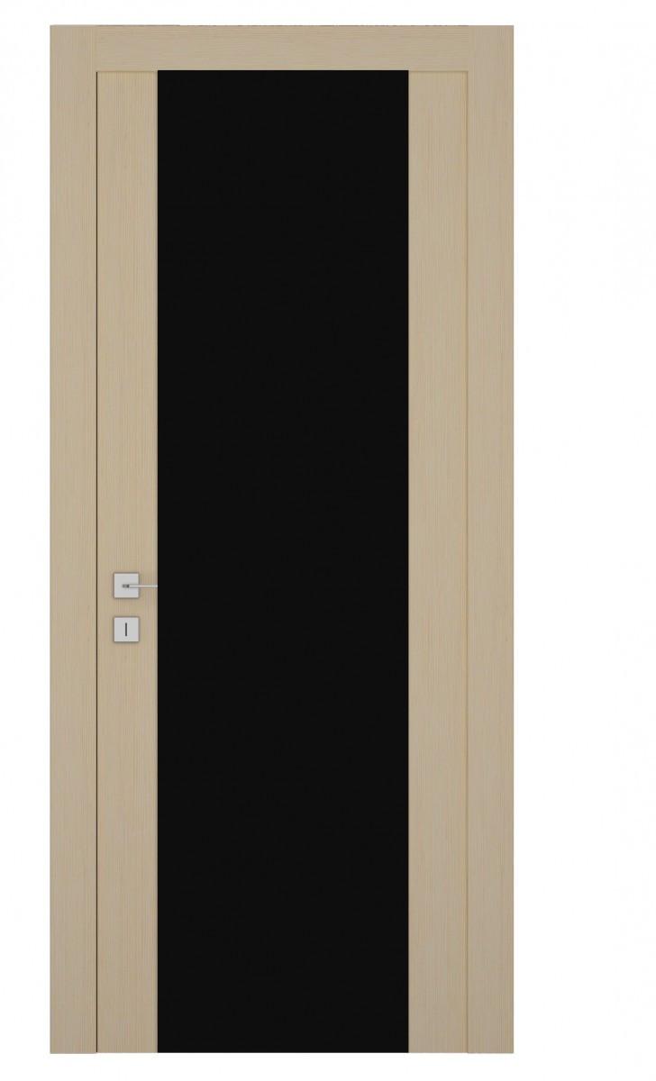 Дверь капучино черный триплекс