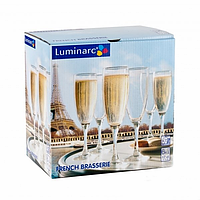 Набор Luminarc French Brasserie из 6 бокалов для шампанского (170 мл)
