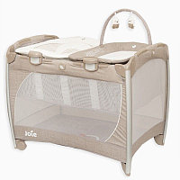 Манеж Playard Excursion change & bounce (Tan Stripe Brown) Joie