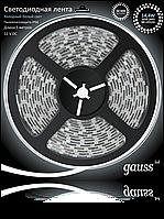 Светодиодная лента Gauss 5050/60-SMD 14.4W  12V DC холодный белый IP66 (блистер 5м) , фото 1