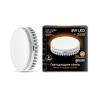 Светодиодная лампа Gauss LED SMD GX53 8W 2700K (теплый белый), фото 1