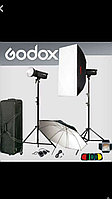 Комплект импульсного света Godox 2X 600W Professional Studio Strobe Flash Light Kit