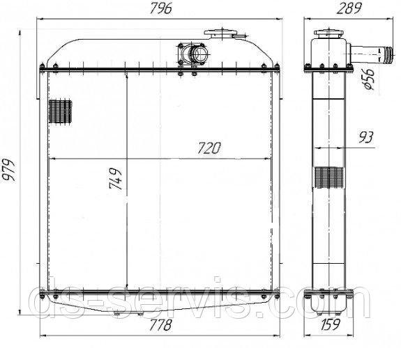 Радиатор водяной 130У.13.010-1   Т130 / Т170