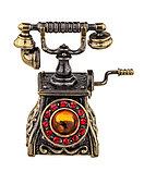 Колокольчик Антикварный телефон. Янтарь, стразы. Ручная работа. Калининград, фото 3