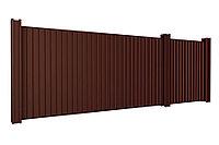 Откатные ворота 5000х2500 стандартные под профлист