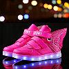 """LED Кроссовки детские со светящейся подошвой """"рыбка"""", розовые"""