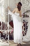 Подарок для женщины - Длинный кружевной женский халат + сорочка , фото 2