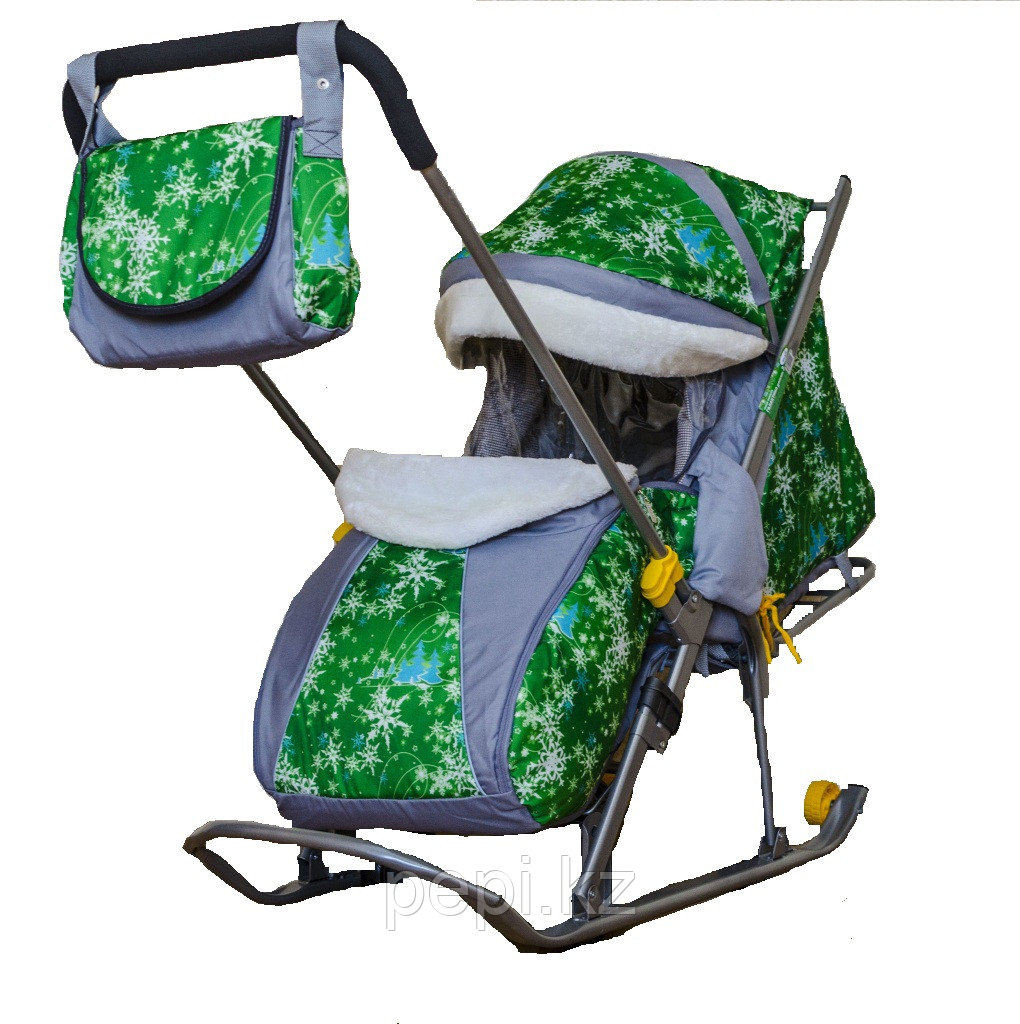 Санки - коляска Галактика Детям Елки на зеленом