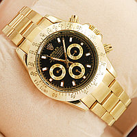 Часы Rolex Daytona Gold Black механика с автоподзаводом