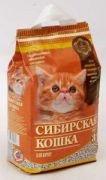 Наполнитель кошачьих туалетов Сибирская Кошка для котят впитывающий