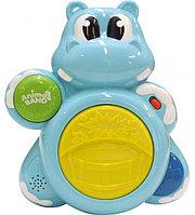 Музыкальная игрушка Бегемотик-барабанщик, фото 1
