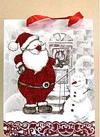 """Подарочный пакет """"Дед мороз и снеговик"""", фото 1"""