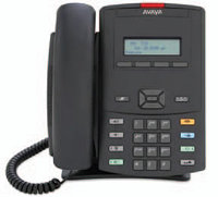 Avaya (Nortel) IP Phone 1210 Charcoal with Icon Keys with Power Supply, фото 1