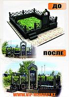 Мемориальный комплекс из черного и зеленого гранита