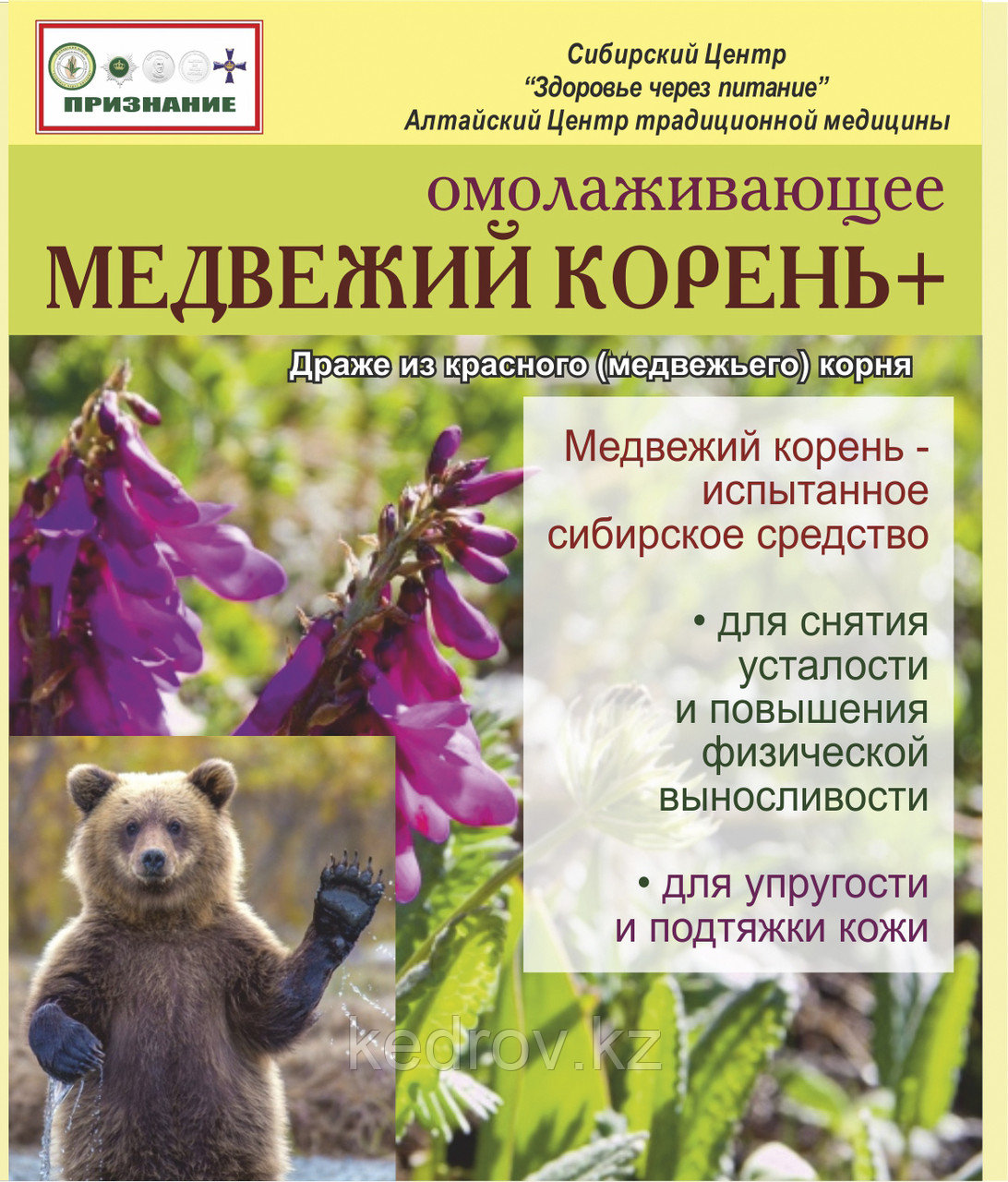 «Медвежий корень - активатор силы», 30г (драже 0,2 г  № 150)