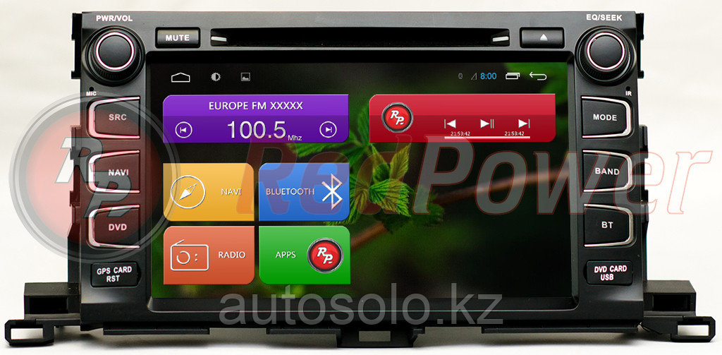 Redpower для Toyota Highlander (OS Android)