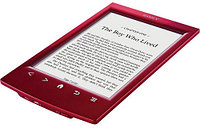 "Электронная книга Sony PRS-T2 Touch edition, 6""e-ink display, 600x800, MS/SD, red"