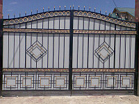 Покраска ворот, решеток, заборов (металлоизделий) полимерной (порошковой) покраской