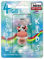 USB Mirex kids COW PEACH  4GB