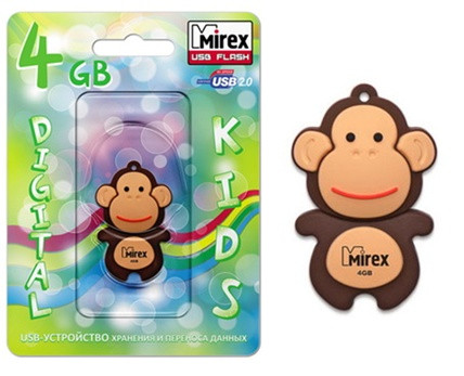USB Mirex kids MONKEY BROWN  8GB