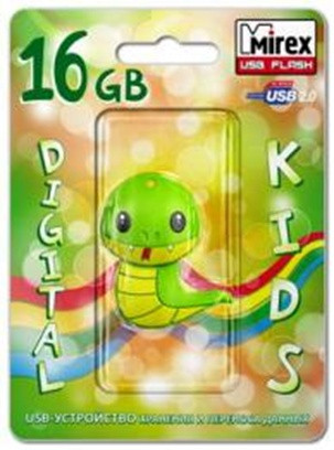 USB Mirex kids SNAKE GREEN  4GB