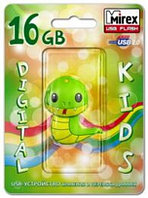 USB Mirex kids SNAKE GREEN  16GB