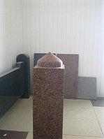 Столб гранитный резной, вверх в виде купола