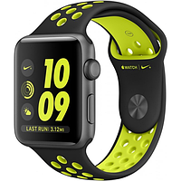 Apple watch series 2 38mm with nike sport band green-black