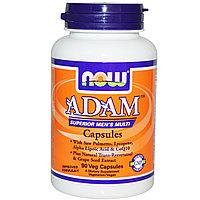 Now Foods, Adam мультивитамины для мужчин наивысшего качества, 90 капсул по 3 шт.в день., фото 1