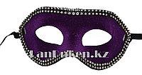 Венецианская маска Коломбина фиолетовая (бархатная) , фото 1