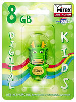 USB флэш-накопитель Mirex kids DRAGON GREEN  8GB (ecopack)