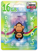USB флэш-накопитель Mirex kids MONKEY BROWN 16GB (ecopack)