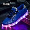 LED Кроссовки со светящейся подошвой, синие низкие Weise, 35-42