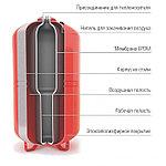 Расширительный мембранный бак для систем отопления (сменная мембрана) V=200 л, WRV 200 top, фото 3