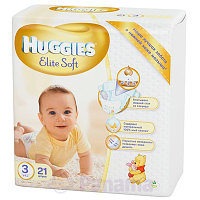 Подгузники HUGGIES Elite soft 3 4-9kg 18шт пак