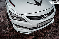 Реснички на фары Hyundai Accent (Solaris) 2014+ длинные, фото 1