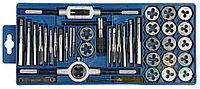 """Набор ЗУБР """"МАСТЕР"""" с металлореж. инструментом, метчики однопроходные и плашки М3-М12, оснастка - в пласт. боксе 40пред."""