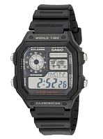 Мужские часы Casio AE1200WH-1A World Time Multifunction Watch