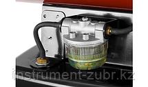 Пушка дизельная тепловая, ЗУБР ДПН-К9-52000-Д, 220 В, 52 кВт, 1800 м.куб/час, 55.5л, 3.6кг/ч, дисплей, продувка камеры, датчик уровня топлива, фото 3