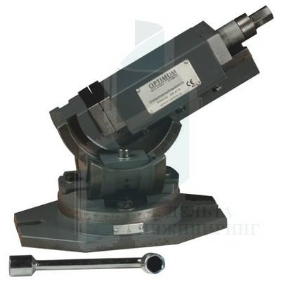 Трехосевые станочные тиски Optimum MV3-75