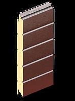 Сэндвич панели для ворот Ral 8014 (шоколад) 610  мм